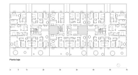layout and density of building gallery of high density residential building solano