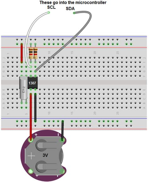 circuit without breadboard how to build a real time clock circuit with a ds1307 chip