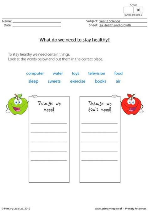 Healthy Food Worksheets by 1000 Images About Science Printable Worksheets