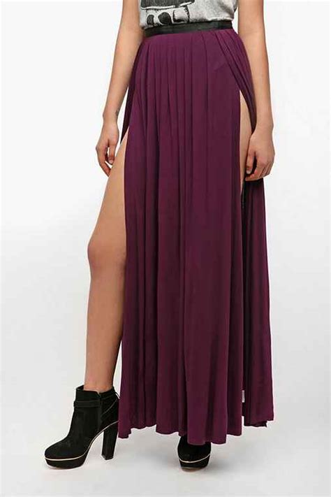 ecote slit maxi skirt