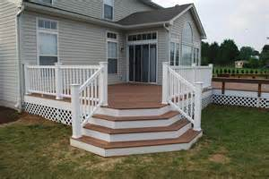 Patio Stairs Design Deck Designs Redwood Deck With Flared Stairs Accessories Photo Gallery