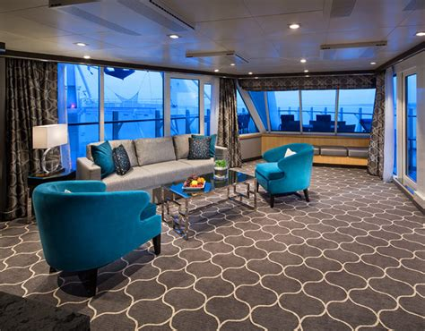 cruise ships with 2 bedroom suites two bedroom aquatheater suite with balcony large on harmony of the seas one bedroom aquatheater