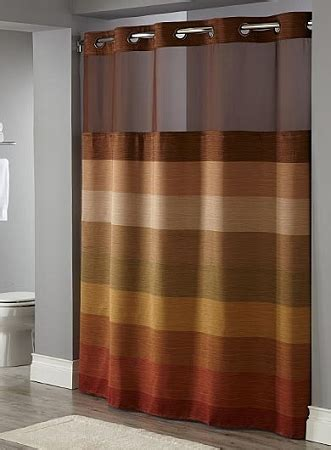 brown hookless shower curtain stratus hotel polyester shower curtain with snap liner