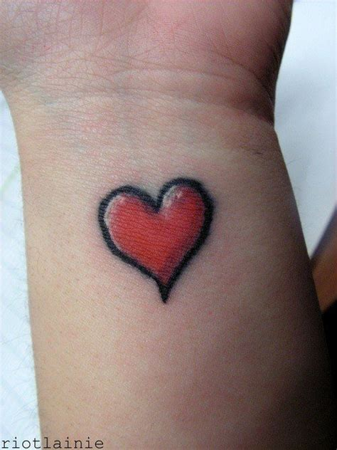 red heart tattoo pin simple designs on