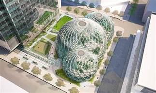 nbbj nbbj adds glass biospheres to amazon headquarters proposal
