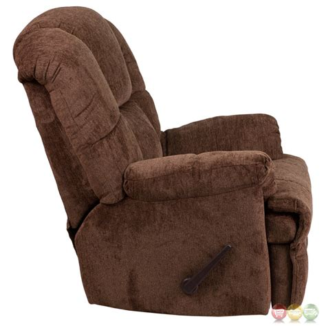 contemporary rocker recliner contemporary hillel chocolate chenille rocker recliner
