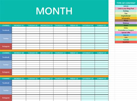 social media marketing calendar template checklist local social media marketing how to kill it