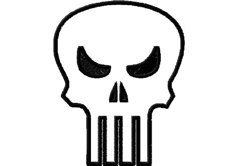punisher template the gallery for gt the punisher skull stencil