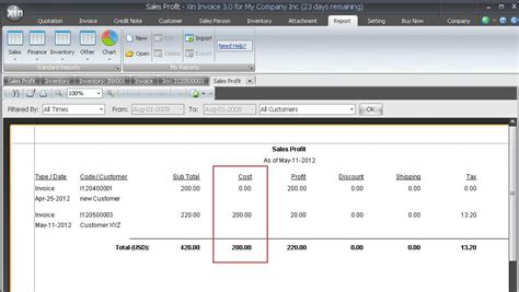 How To Find Sales Xin Invoice Software Handy And Cost Effective How To Calculate The Quot Cost Quot