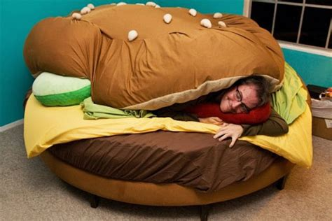 cheeseburger bed hamburger bed is the most awesome bed ever serious eats