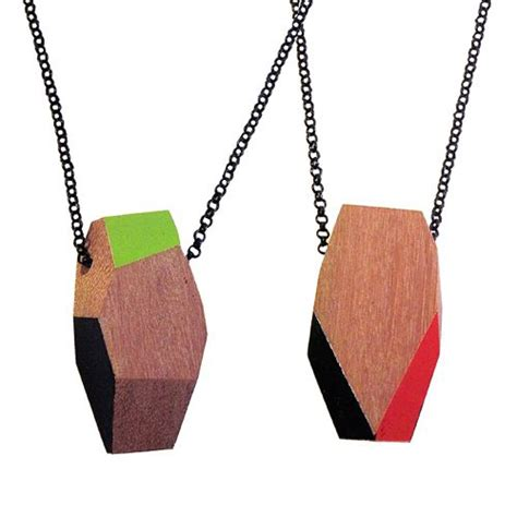 design milk necklace recycled wood necklaces by treehorn design design milk