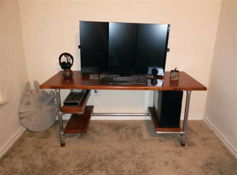 Build Your Own Diy Computer Gaming Desk Pipe Computer Desk