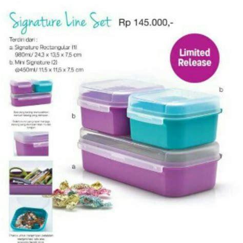 Promo Oktober Signature Reqtanguler signature line tupperware indonesia promo terbaru