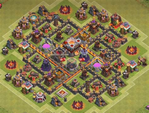 base 7 townhall 12 best town hall th7 hybrid bases 2018 3 air defenses