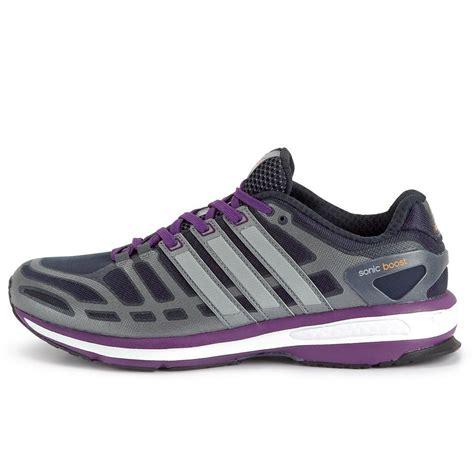 adidas womens sonic boost running shoes dark greypurple tennisnutscom