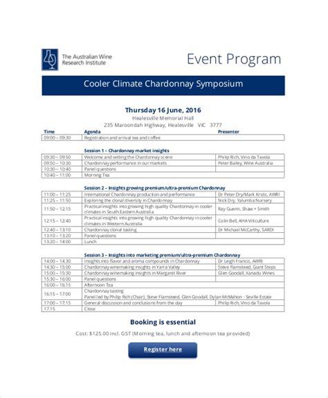 38 Event Program Templates Pdf Sle Templates One Page Event Program Template