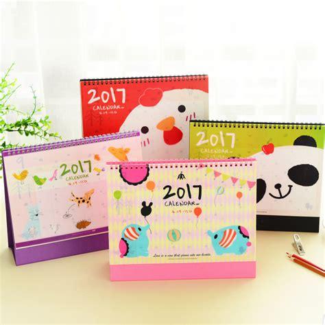 Calendario Coreano 2017 New Kawaii Animal Panda Elephant Korean