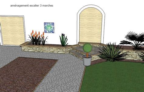 designer terrassen 2488 am 233 nager une porte d entr 233 e avec 3 marches soit 60 cm de