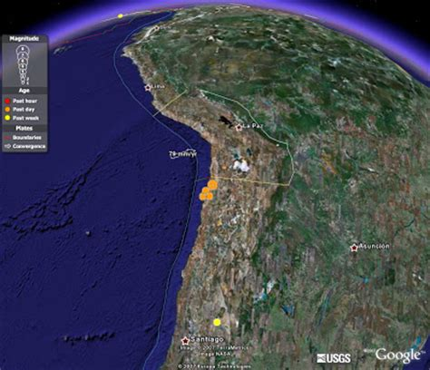 imagenes google earth terremoto chile google earth terremoto en chile
