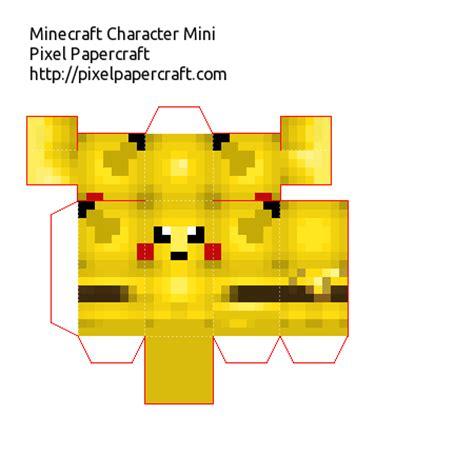 Pixal Papercraft - papercraft pikachu mini