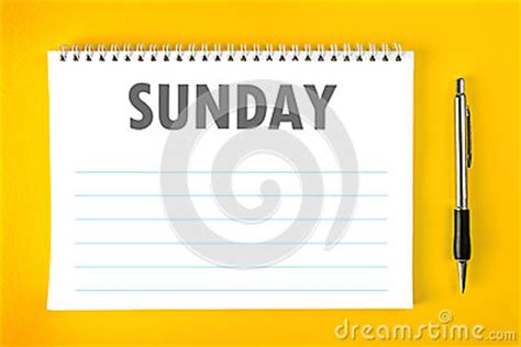 Sunday Calendar Schedule Blank Page Royalty Free Stock | sunday calendar schedule blank page royalty free stock