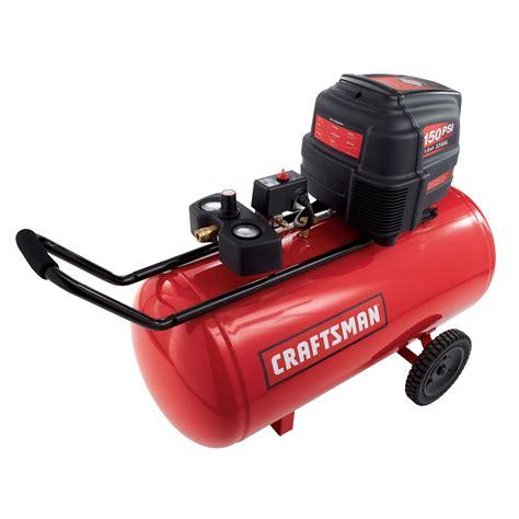 craftsman  gal air compressor  hp horizontal tank  max psi tools air compressors
