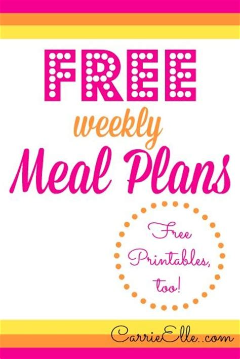 printable meal planner by carrie lindsey 17 best ideas about weekly meal plans on pinterest