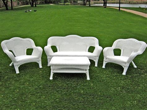 resin wicker furniture white resin chairs walmart white