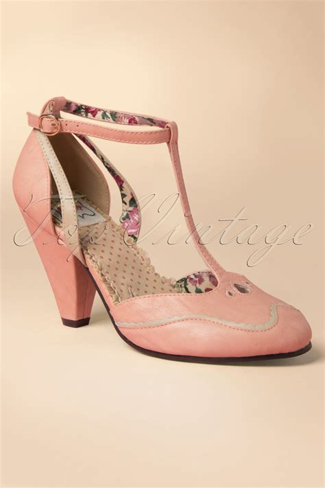40s annalise t pumps in pink