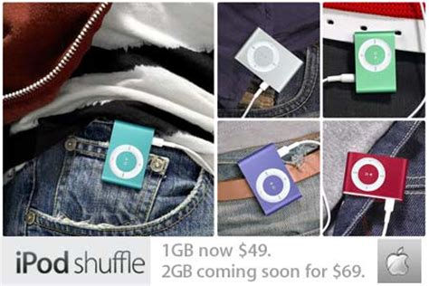 Apple Shuffle Now Available by 2gb Apple Ipod Shuffle Now Available At 69 Techgadgets