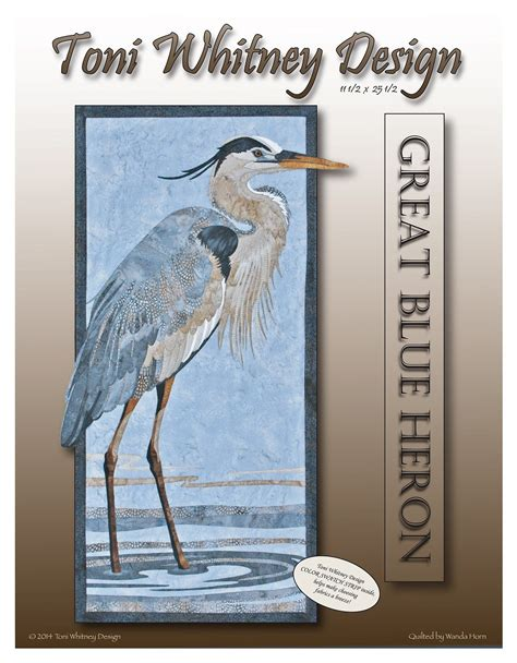Blue Heron Detox Cleanse Pills by Toni Design Great Blue Heron Applique Quilt Kit