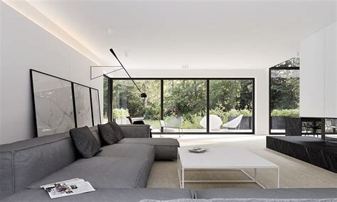 decorar paredes blancas decoraci 243 n de interiores modernos en gris y blanco
