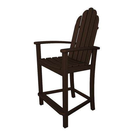 patio adirondack chair shop polywood classic adirondack mahogany plastic patio
