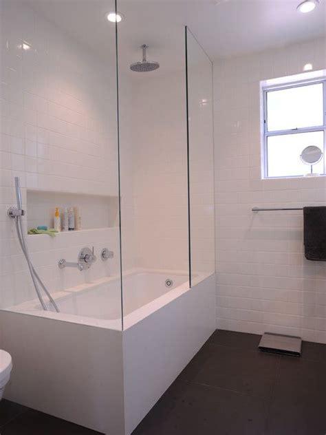 custom bathtub shower combo dmc san francisco s design contemporary bathroom with ceasarstone tub apron and