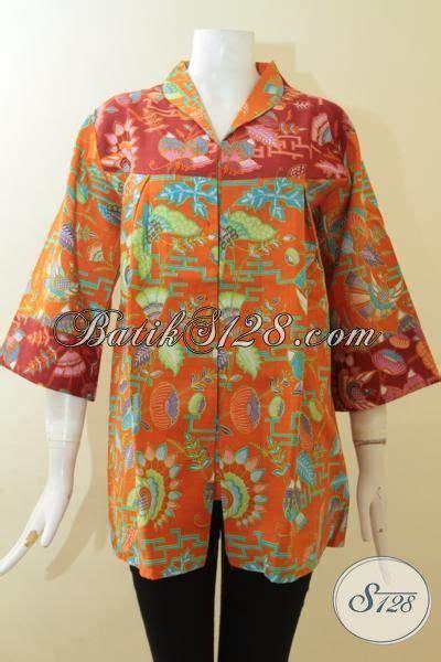 55 Baju Untuk Wanita Warna Merah baju batik modern motif keren warna orange kombinasi merah busana batik paling keren untuk