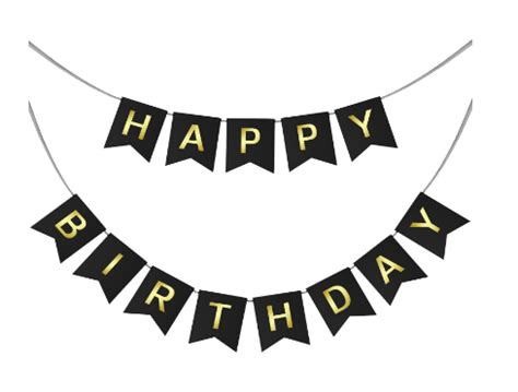 Wall Decoration At Home by Happy Birthday Swallowtail Bunting Banner For Party
