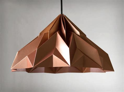 Origami Paper L Shade - make a wish origami lshade pendant satin copper by
