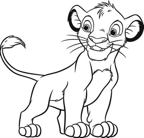 coloring page simba lion king disney coloring pages only coloring pages