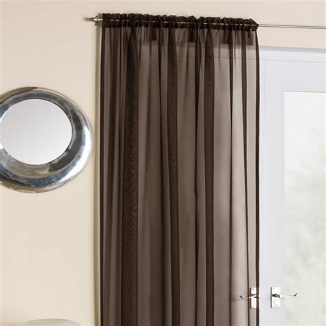 brown panel curtains brown voile net curtain panel tony s textiles tonys