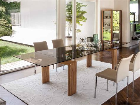 mesa comedor madera y cristal mesa comedor rectangular extensible 4 patas de madera