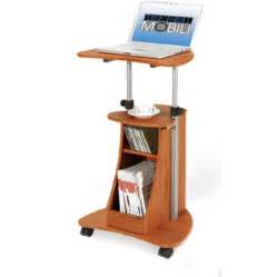 Under Desk Rolling Cart Rolling Laptop Cart With Storage Multiple Finishes
