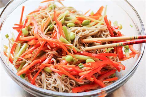 noodle salad recipes soba noodle salad recipe dishmaps