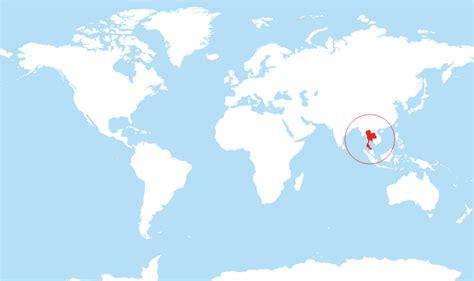 thailand located   world map