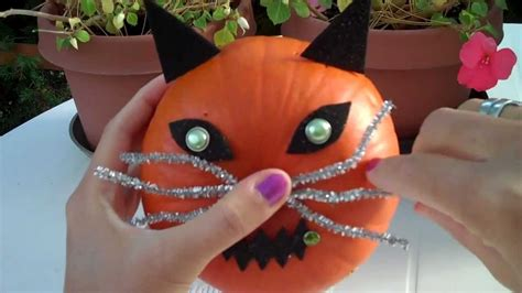 How To Decorate A Pumpkin by How To Decorate A Pumpkin As A Cat