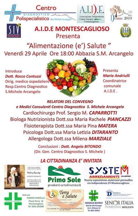 alimentazione salute alimentazione e 180 salute congresso seminario