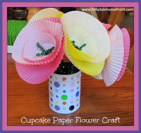 Paper Flower Craft For Children - cupcake paper flower craft for