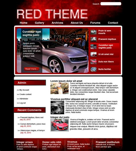 theme drupal commons red drupal theme by dferriman on deviantart