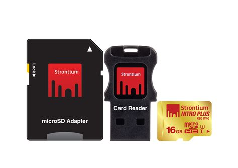 Strontium Microsd Card strontium 16gb nitro micro sd card free usb card reader