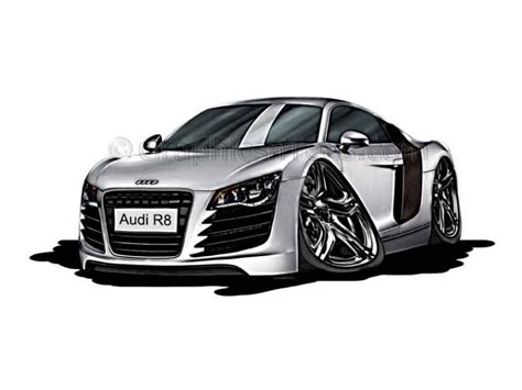 cartoon audi r8 audi r8 cartoon caricature