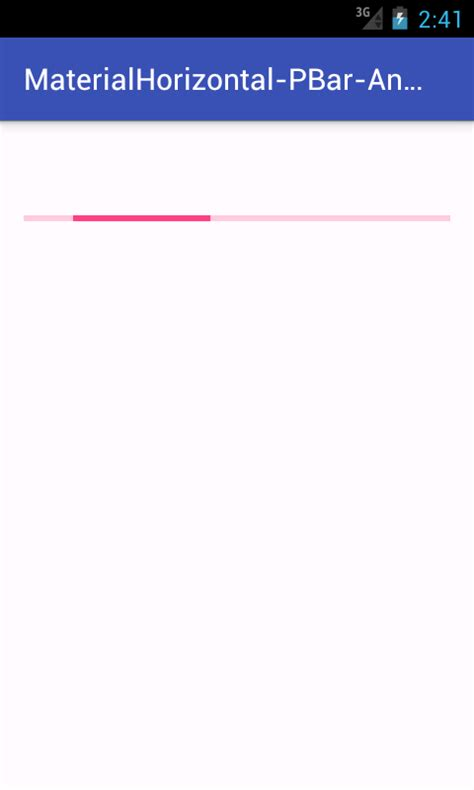 tutorial android progress bar create material design horizontal progress bar in android